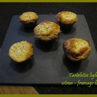 Tartelettes citron - fromage blanc light