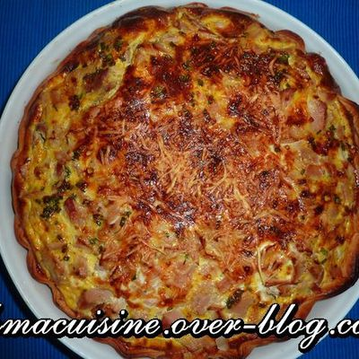 Quiche au thon et curry