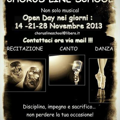 "CHORUS LINE SCHOOL ""Open Day Novembre 2013"""