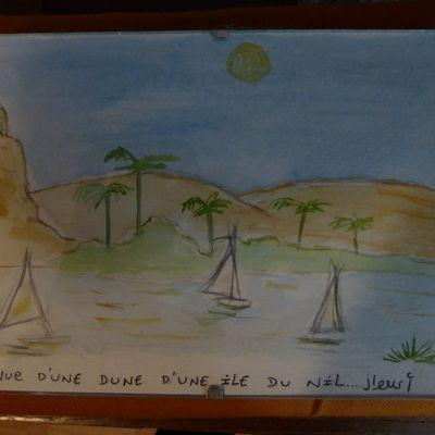 Vue d'une dune d'une île du Nil