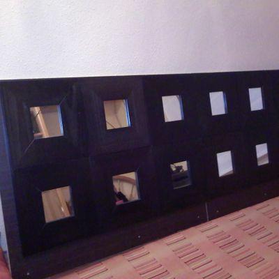 Cabecero con espejos del IKEA