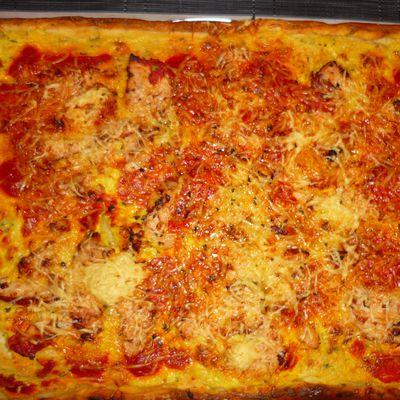 Pizza spéciale : poulet curry