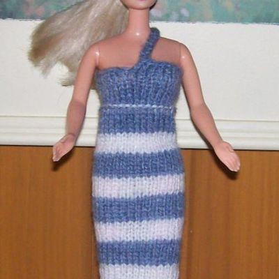 Tricot Barbie: Robe d'été n°4 par les copinautes