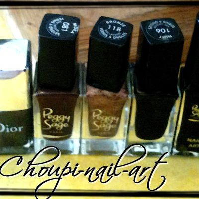 Vernis : or, gris, pailletté, marron, noir !