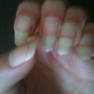 mes ongles avant!!!!