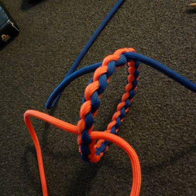 Double splice ring for lanyard or bracelet by Melvin