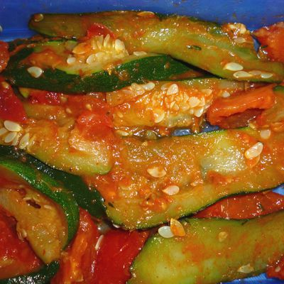 courgette tomate & curry rouge