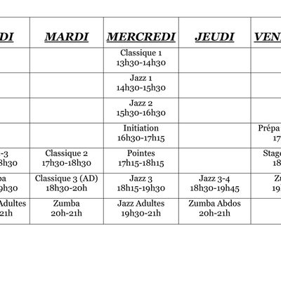 PLANNING COURS 2013-2014