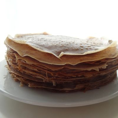 Crêpes à la farine de châtaigne {sans gluten & sans lait}
