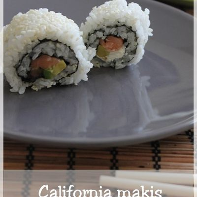 California makis au saumon et avocat (california rolls)