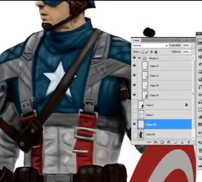 Captain America... en speed painting...