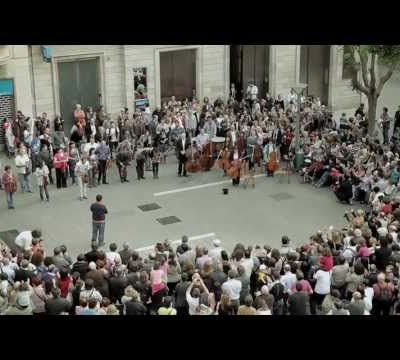 Flash mob à Barcelone