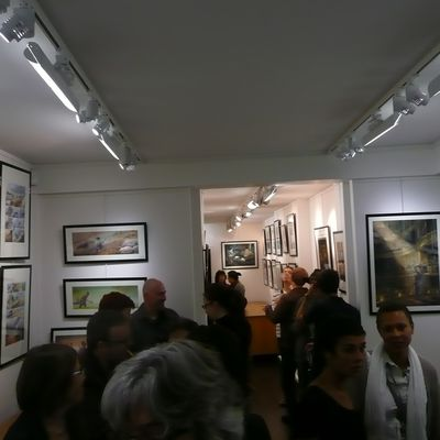 Vernissage d'expo Corominas/Prugne
