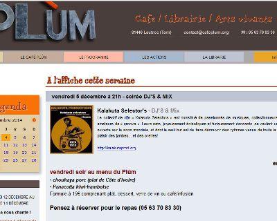 Site internet www.cafeplum.org