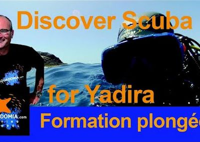 Discover Scuba Diving Calanques National Park Marseille. Yadira from NY, octopus and barracudas...