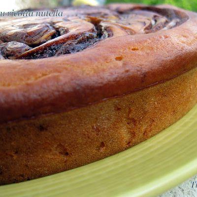 Gâteau ricotta nutella