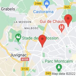 720 Rue d'Alco, 34080 Montpellier, France to 1444 Route de Mende, 34090 Montpellier, France