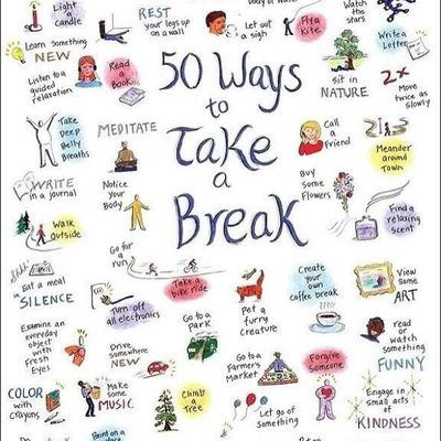 50 Ways to take a break | INFOGRAPHIC poster