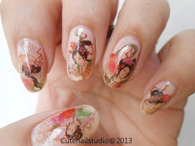 Geisha water decals