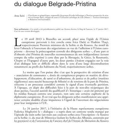 """Tribune - Revue Défense Nationale """" La  décentralisation à l'épreuve du dialogue Belgrade-Pristina """""""