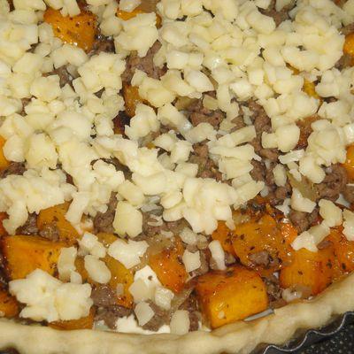 Tarte courge butternut & viande hachée