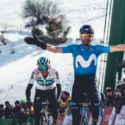Valverde récidive sur la 4ème étape - Alejandro Valverde a remporté l'étape reine de ce Tour de Catalogne en devançant Edgan Bernal. Il reprend le maillot de leader à Thomas De Gendt, qui a craqué dans la deuxième difficulté du jour. - ( Tous droits réservés 2000-2018 © Vélo 101, le site officiel du Vélo ®)