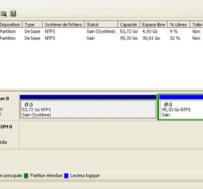 Comment supprimer une partition de disque dur ?