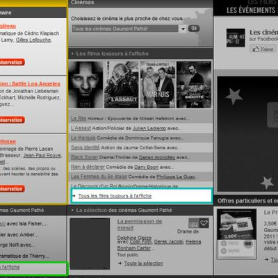 Bien utiliser Cinemasgaumontpathe.com