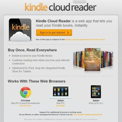 Alternative à iBooks : Kindle Cloud Reader