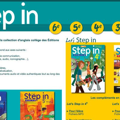 Step In : le manuel et son programme
