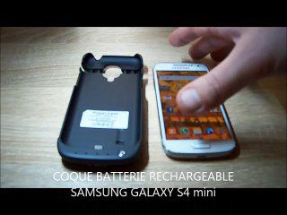 TEST: Coque batterie 3000 mAh Samsung Galaxy S4 Mini