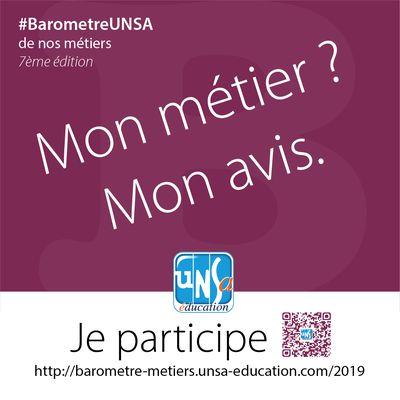 Baromètre UNSA de nos métiers 2019