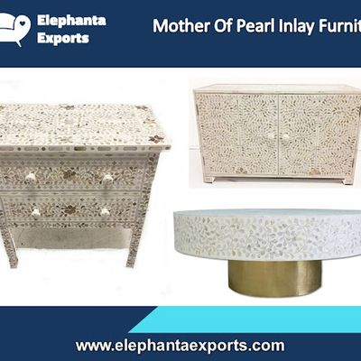 Mother of Pearl Inlay Table Elephanta Exports