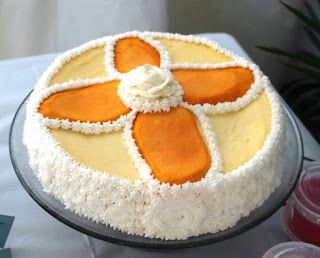 Mango Cheese Cake for Baptism
