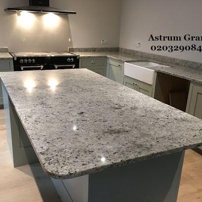 Get Top Colonial Ivory Granite Kitchen Worktop in London - Call Us: 02032908427   Astrum Granite