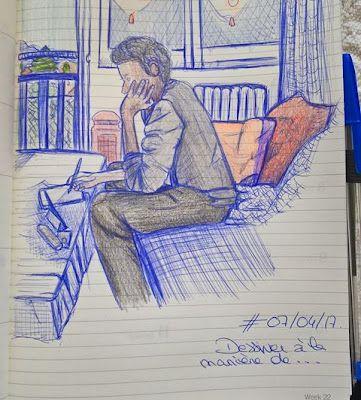 dessin au stylo bic: voyage un dessin par jour