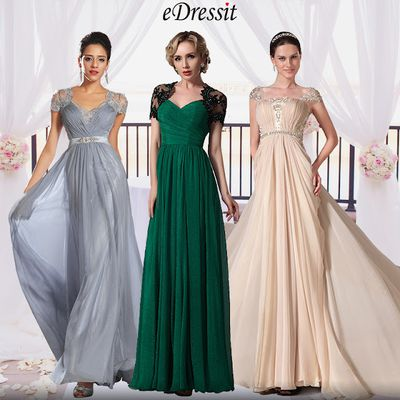 A-line Pleated Long Maxi Eveing & PromDresses