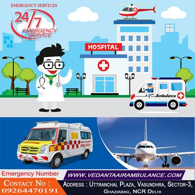 Vedanta is Cost-Effective Air Ambulance Service in Ranchi with Latest Medical Equipment