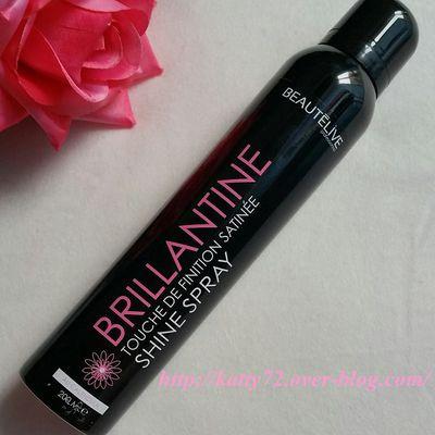 Test du spray brillantine de Beautélive