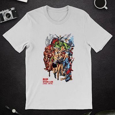 All Marvel Heroes Rip Stan Leeshirt