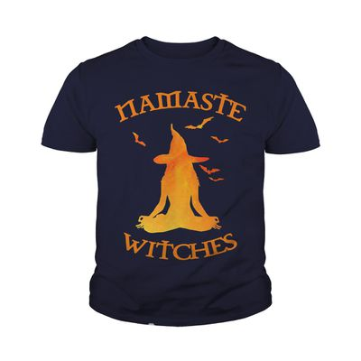 Namaste witches Yoga Hallowen shirt