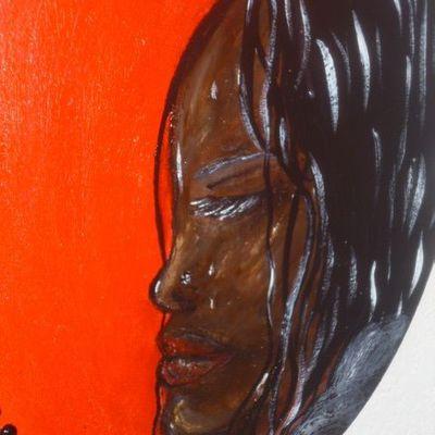 Peinture rouge et no