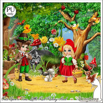 ONCE UPON  A TIME LITTLE RED RIDING HOOD