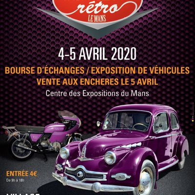 Bourses, Expos, Rallyes, Balades - Avril 2020