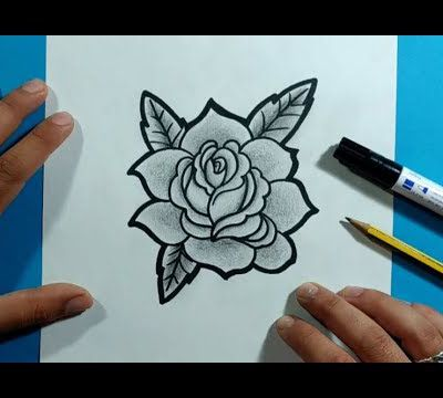 Como dibujar una rosa paso a paso 19