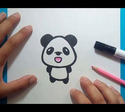 Como dibujar un oso panda paso a paso 7