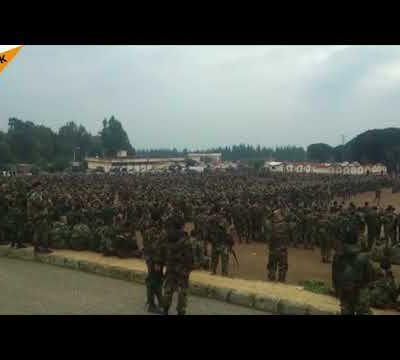 DES MILLIERS DE VOLONTAIRES REJOIGNENT LES FORCES POPULAIRES SYRIENNES [ÉCOLE MILITAIRE DE LATTAQUIÉ]
