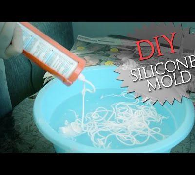 Moule silicone avec du savon