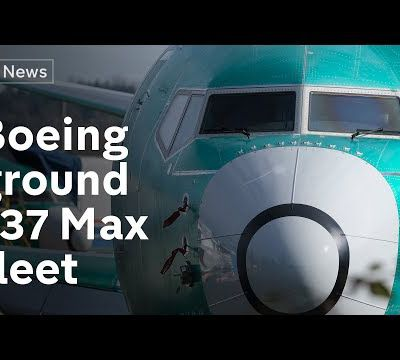 ENTIRE BOEING 737 MAX AIRCRAFT FLEET GROUNDED (CHANNEL 4 NEWS)