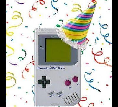 Joyeux anniversaire! Joyeux 30 ans à notre chère console game boy!!